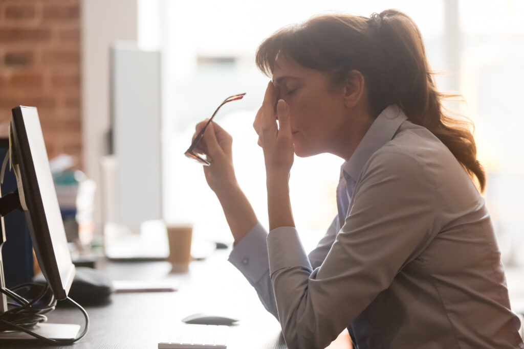 Workplace stress could lead to a heart attack or stroke